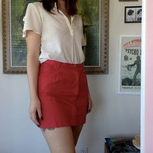 Urban Outfitters Skirts - Red Canvas Skirt - Urban Renewal